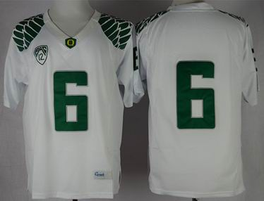 Oregon Ducks Charles Nelson 6 NCAA Limit Football Jersey - White