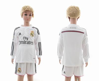 Real Madrid home long sleeves kids