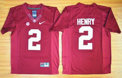 Youth Alabama Crimson Tide Derrick Henry 2 Diamond Quest College Football Limited Jerseys - Red