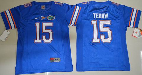 Youth Florida Gators #15 Tim Tebow College Football Jersey Royal Blue