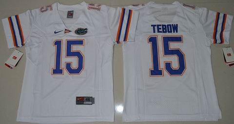 Youth Florida Gators Tim Tebow 15 College Football Jersey White