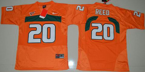 Youth Miami Hurricanes #20 Ed Reed College Football Jersey Orange