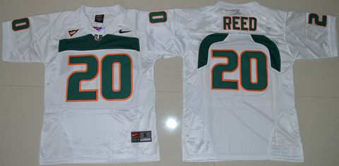 Youth Miami Hurricanes #20 Ed Reed College Football Jersey White