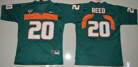 Youth Miami Hurricanes #20 Ed Reed College Football Jersey green