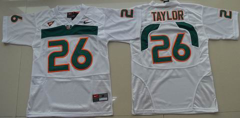 Youth Miami Hurricanes #26 Sean Taylor College Football Jersey White