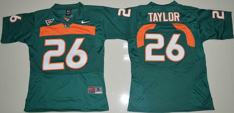 Youth Miami Hurricanes Sean Taylor 26 College Football Jersey Green