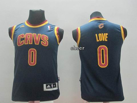 Youth NBA Cleveland Cavaliers #0 love navy Jersey
