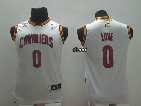 Youth NBA Cleveland Cavaliers #0 love white Jersey