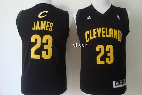 Youth NBA Cleveland Cavaliers #23 James black Jersey