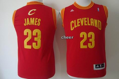 Youth NBA Cleveland Cavaliers #23 James red Jersey
