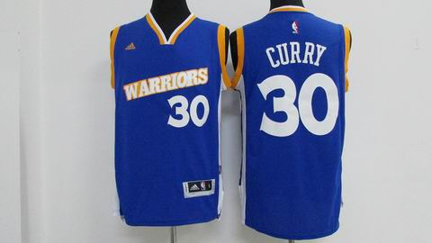 Youth NBA Golden State Warriors #30 Curry blue jersey