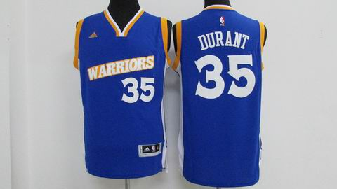 Youth NBA Golden State Warriors #35 Durant blue jersey