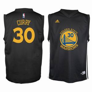 Youth NBA Golden State Warriors 30 curry black jersey
