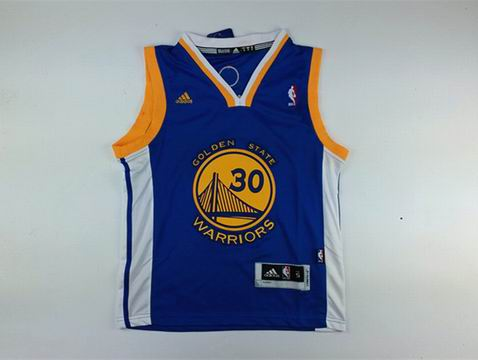 Youth NBA Golden State Warriors 30 curry blue jersey