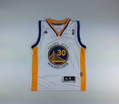 Youth NBA Golden State Warriors 30 curry white jersey