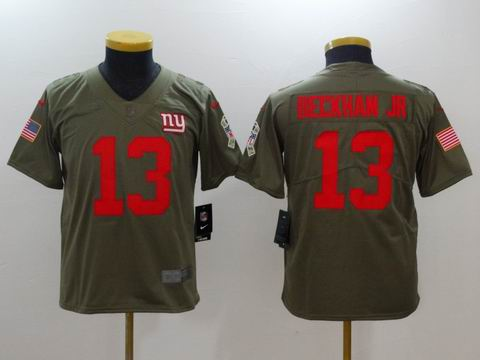 Youth Nike nfl Giants #13 Beckham Jr Olive Salute To Service Limited Jersey