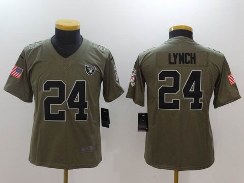 Youth Nike nfl Raiders #24 Lynch Olive Salute To Service Limited Jersey