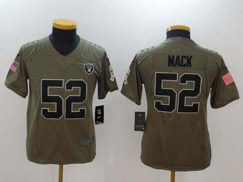 Youth Nike nfl Raiders #52 Mack Olive Salute To Service Limited Jersey