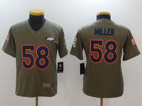 Youth Nike nfl broncos #58 Miller Olive Salute To Service Limited Jersey