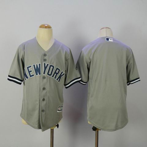 Youth mlb yankees blank grey jersey