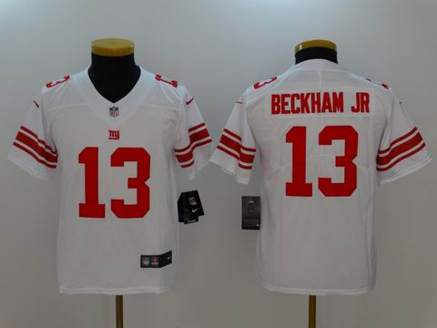 Youth nfl giants #13 BECKHAM JR rush II white jersey
