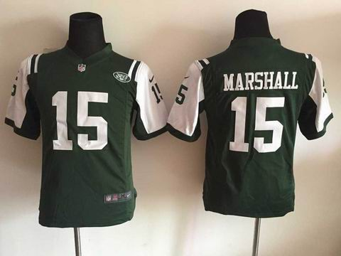 Youth nike nfl jets 15 Marshall green jersey
