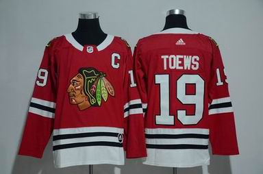 adidas nhl Chicago Blackhawks #19 Toews red jersey