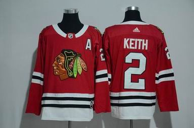 adidas nhl Chicago Blackhawks #2 Keith red jersey
