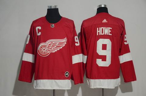 adidas nhl detroit redwings #9 HOWE red jersey