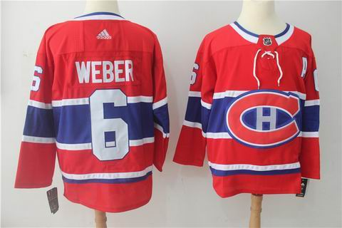 adidas nhl montreal canadiens #6 Weber red jersey