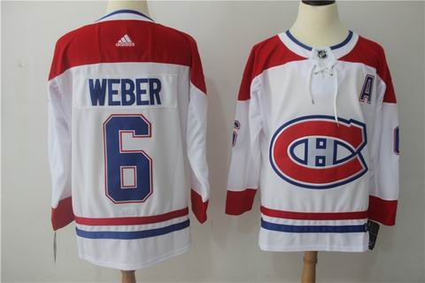 adidas nhl montreal canadiens #6 Weber white jersey