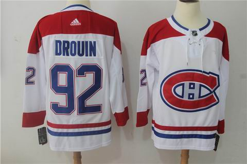 adidas nhl montreal canadiens #92 Drouin white jersey