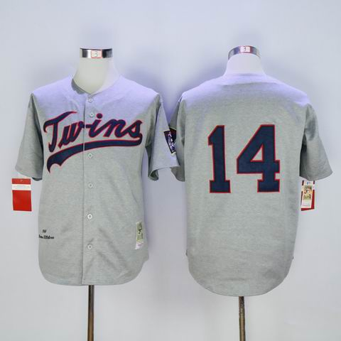 mlb Minnesota Twins #14 grey 1969 throwback jersey