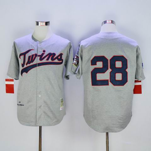 mlb Minnesota Twins #28 grey jersey