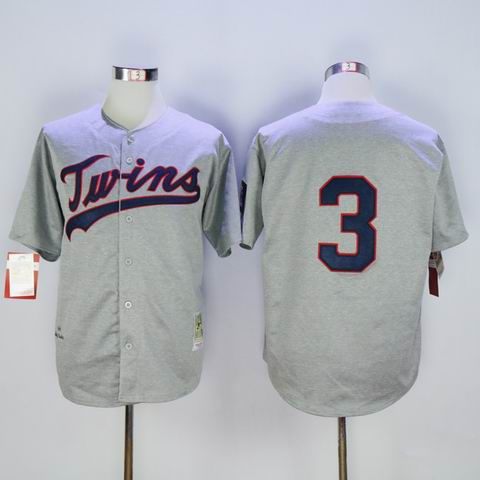 mlb Minnesota Twins #3 grey jersey