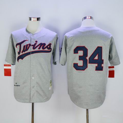 mlb Minnesota Twins #34 grey jersey