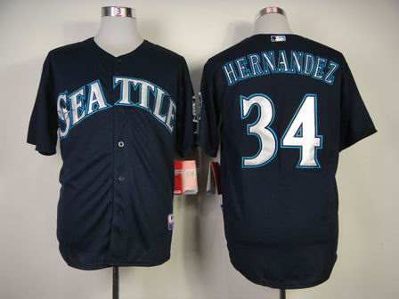 mlb Seattle Mariners 34 Hernandez Blue