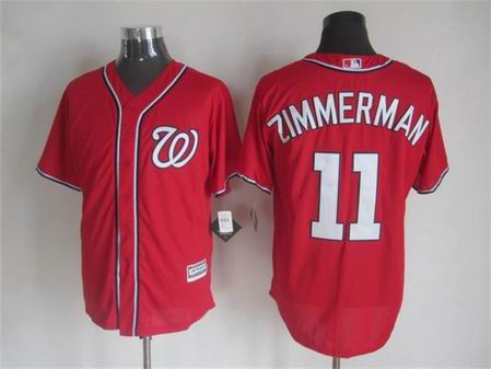 mlb Washington Nationals 11 Zimmerman red jersey