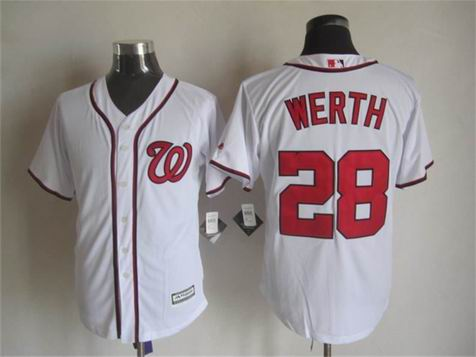 mlb Washington Nationals 28 Werth white jersey