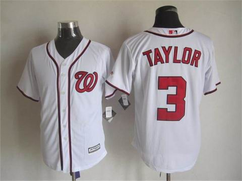 mlb Washington Nationals 3 Taylor white jersey