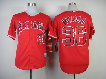 mlb los angeles angels 36 Weaver red jersey