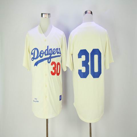 mlb los angeles dodgers #30 rice white throwback jersey