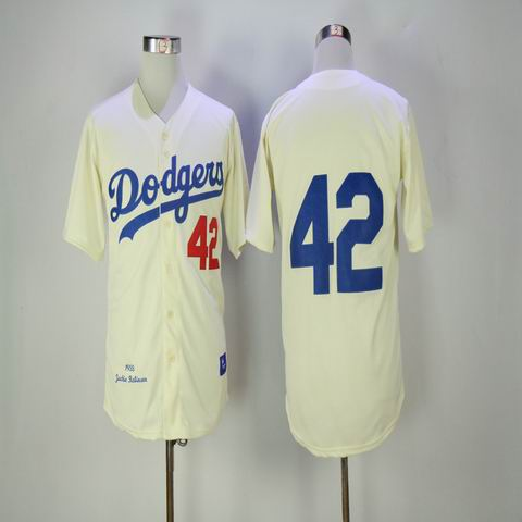 mlb los angeles dodgers #42 rice white throwback jersey