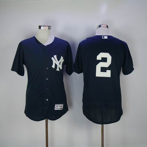 mlb new york yankees #2 blue flexbase jersey