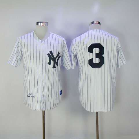 mlb new york yankees #3 1929 throwback white jersey