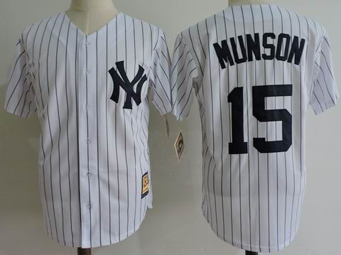 mlb new york yankees #55 Munson white jersey Mitchell&Ness