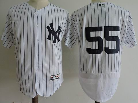 mlb new york yankees #55 white flexbase jersey
