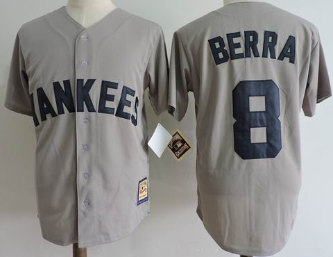 mlb new york yankees #8 Berra grey jersey Mitchell&Ness
