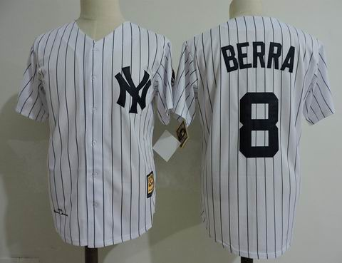 mlb new york yankees #8 Berra white jersey Mitchell&Ness