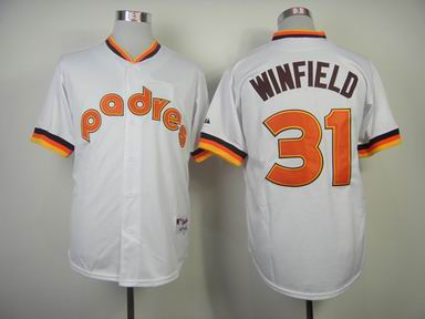 mlb san diego padres 31 Winfield white jersey